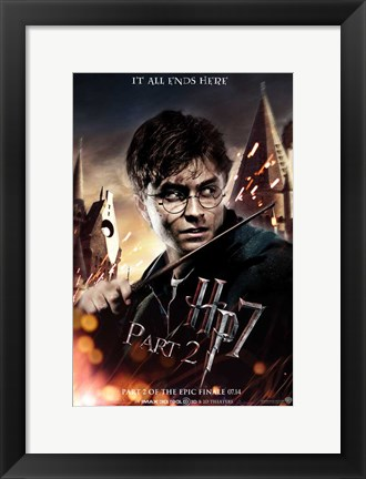 Framed Harry Potter and the Deathly Hallows (part II) Print