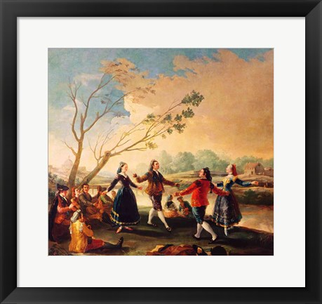 Framed Dance on the Banks of the River Manzanares, 1777 Print