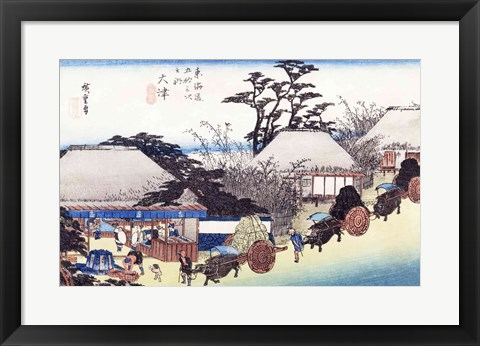 Framed Teahouse at the Spring Print