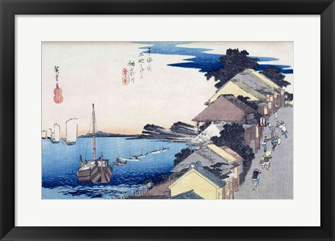 Framed Kanagawa: View of the Ridge Print
