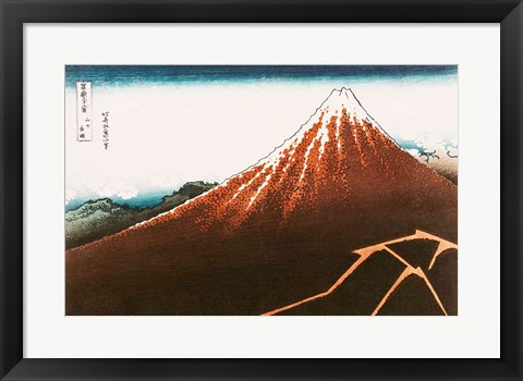 Framed Fuji above the Lightning Print