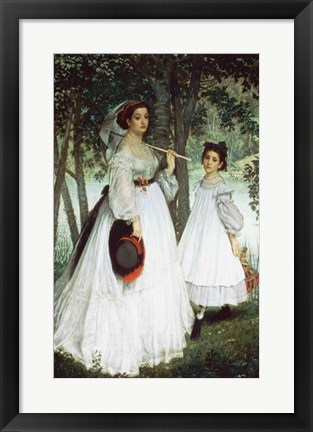 Framed Two Sisters: Portrait, 1863 Print