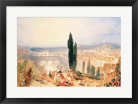 Framed Florence from near San Miniato, 1828 Print