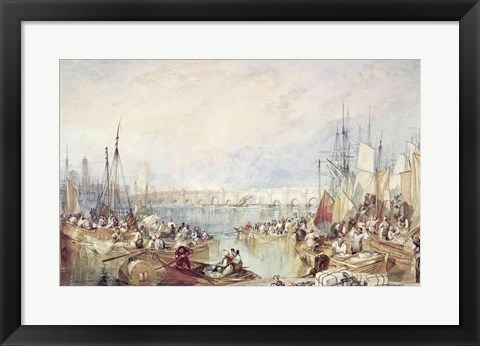 Framed Port of London Print