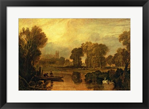 Framed Eton College from the River Print