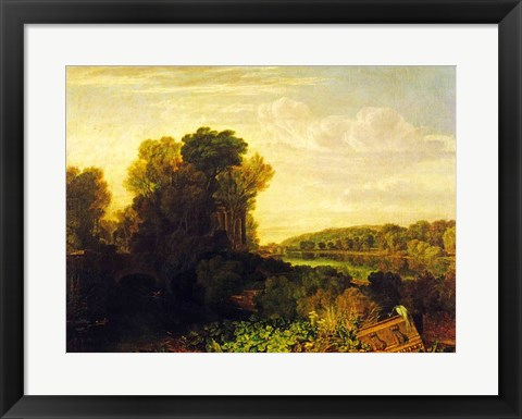 Framed Thames at Weybridge Print