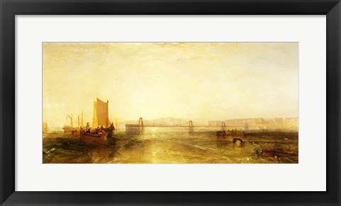 Framed Brighton from the Sea, c.1829 Print