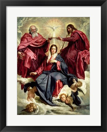 Framed Coronation of the Virgin Print