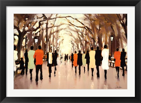 Framed Poets Walk Print