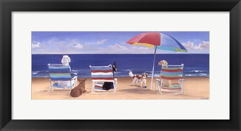 Framed Beach Chair Tails Print