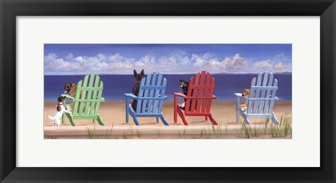 Framed Rainbow Chair Tails Print
