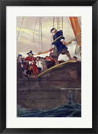 Framed Walking the Plank Print