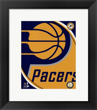 Framed Indiana Pacers Team Logo Print