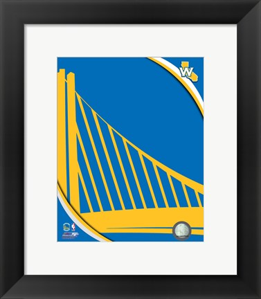 Framed Golden State Warriors Team Logo Print