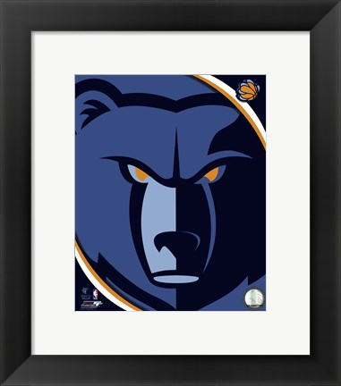 Framed Memphis Grizzlies Team Logo Print