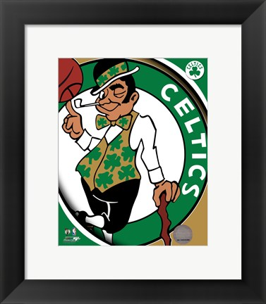 Framed Boston Celtics Team Logo Print