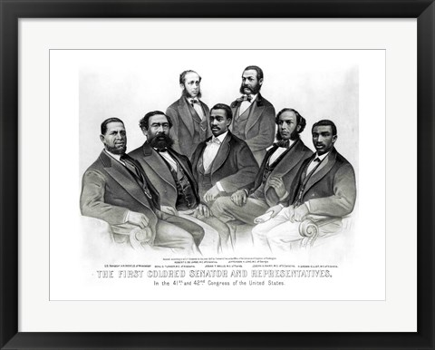 Framed First Colored Senator and Representatives Print