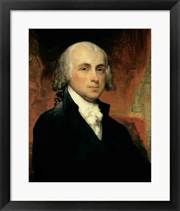 Framed James Madison Print