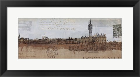 Framed Cities II - London Print