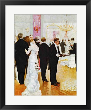 Framed Wedding Reception Print