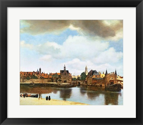 Framed View of Delft Print