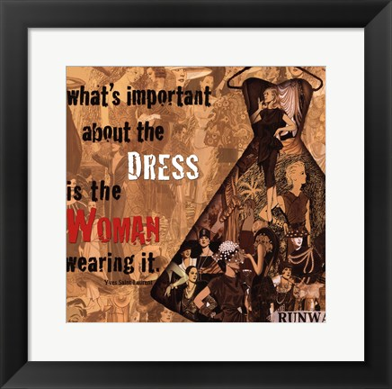 Framed Best Dress Print