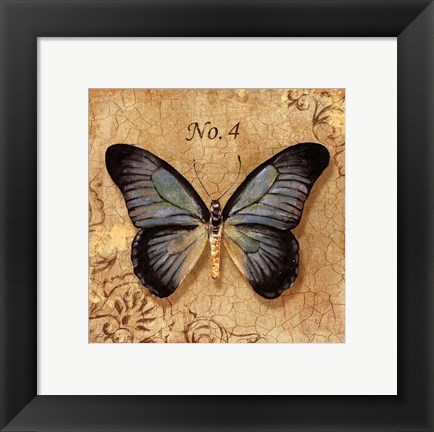 Framed Clair's Butterfly I Print
