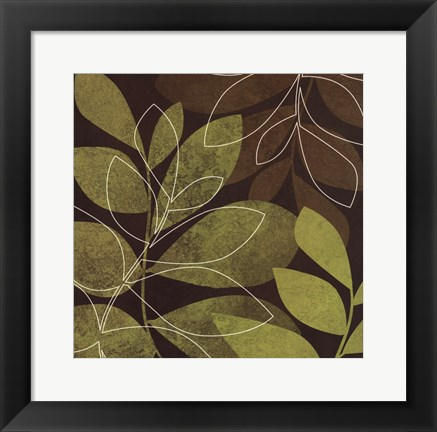 Framed Fall Leaves II Print