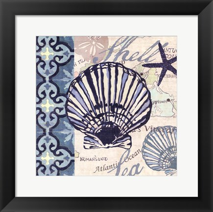 Framed Trade Wind Scallop Print