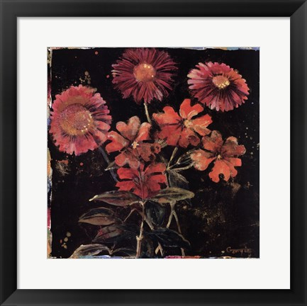 Framed Floral Mix II Print