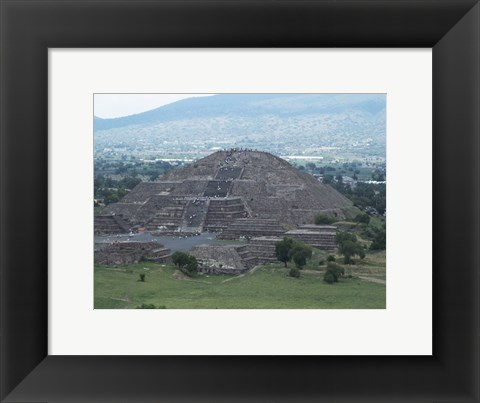 Framed Pyramid of the Moon Teotihuacan Print