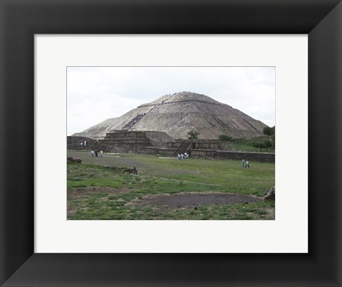 Framed Pyramid of the Sun Print
