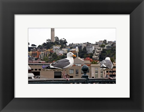 Framed San Francisco Seen From the Bay Print