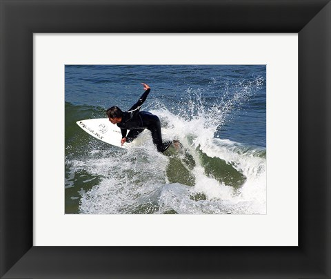Framed Surfing Ocean Waves Print