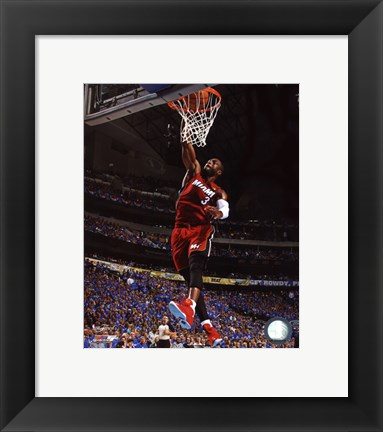 Framed Dwyane Wade Game 3 of the NBA 2011 Finals Action(#11) Print