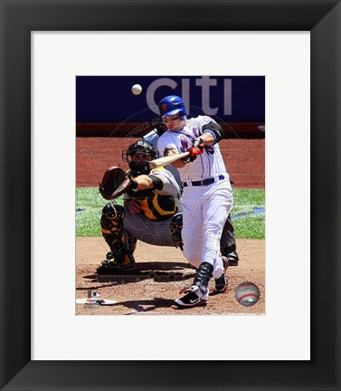 Framed Carlos Beltran Hitting Action Print