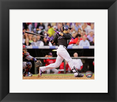 Framed Carlos Gonzalez 2011 Action Print