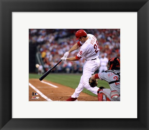 Framed Chase Utley 2011 Action Print
