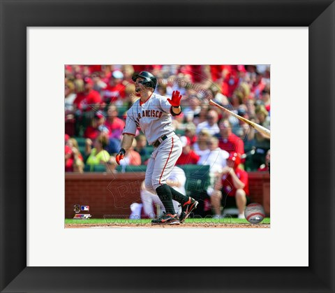 Framed Cody Ross 2011 Action Print