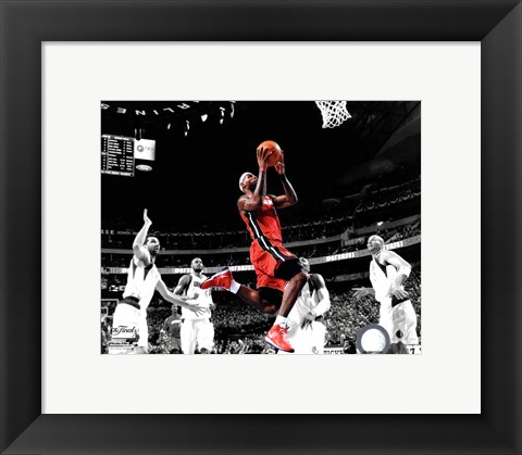 Framed LeBron James Game 3 of the 2011 NBA Finals Spotlight Action(#20) Print