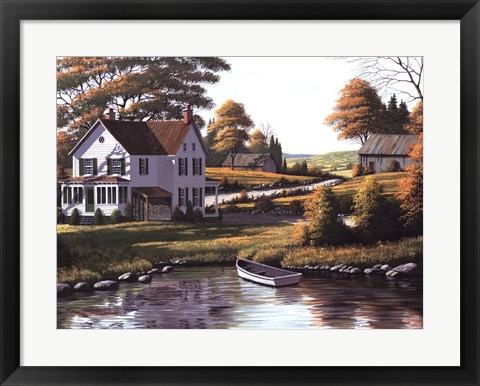 Framed Along the Riverbank Print