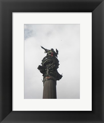 Framed Barcelona- Top of Columbus Monument Print