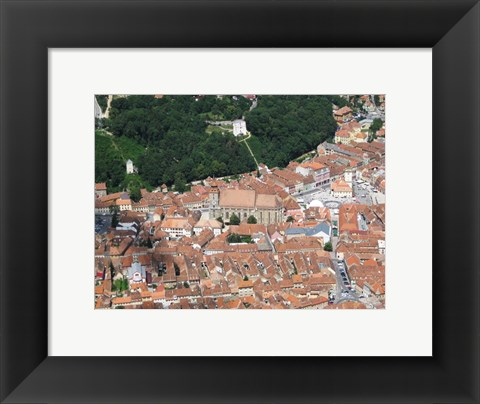 Framed Brasov Black Church and City Square Print