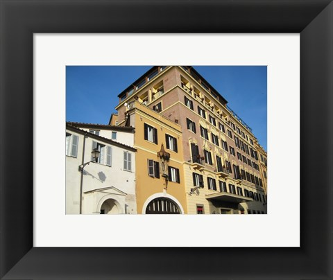 Framed Buildings Close to Spanish Steps Print