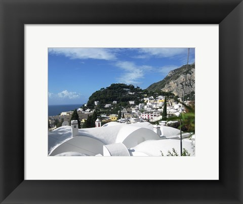 Framed Capri White Roof Print