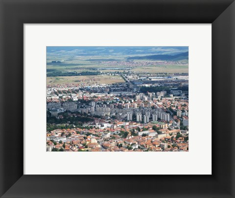 Framed Cast Shadows Over Brasov Print