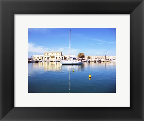 Framed Crete Harbour Print