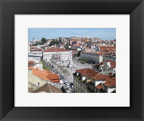 Framed Panorama Over Rossio Square Print