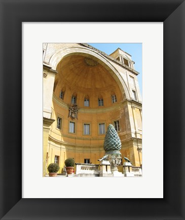 Framed Pinecone Statue in the Vatican Print