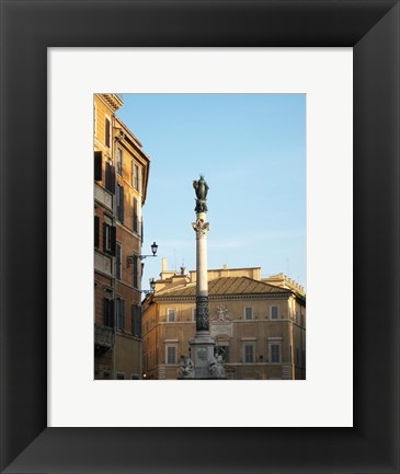 Framed Rome Column of the Imaculate Conception Print
